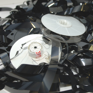 Tangled magnetic tape