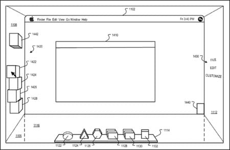 Apple 3D patent application - 2