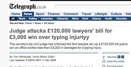Telegraph headline typo