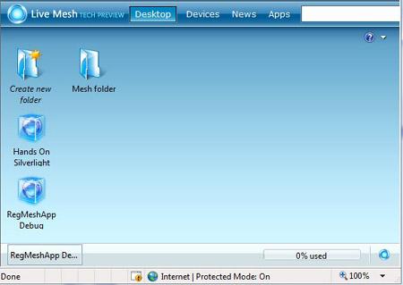 Mesh desktop