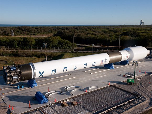 The Falcon 9 at Cape Canaveral