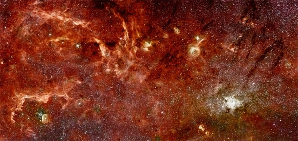 The infrared image of our galaxy's c