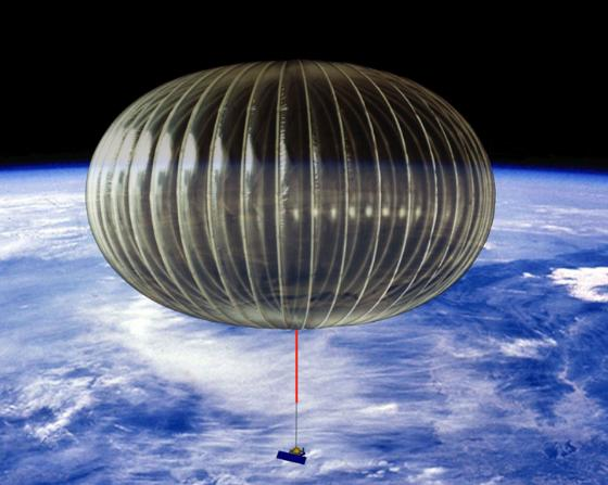 NASA impression of a long-duration superpressure balloon at float height