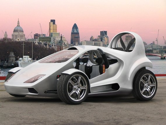 "Concept art from Parajet - the proposed ""Road Sport"" Skycar"