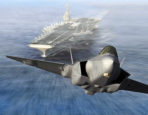 Concept art of the F-35 C, intended for carrier tailhook operation