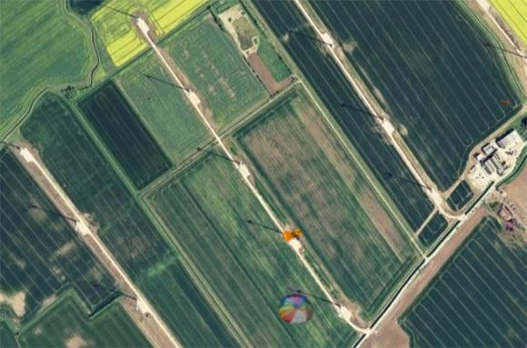A satellite view of Conisholme wind farm