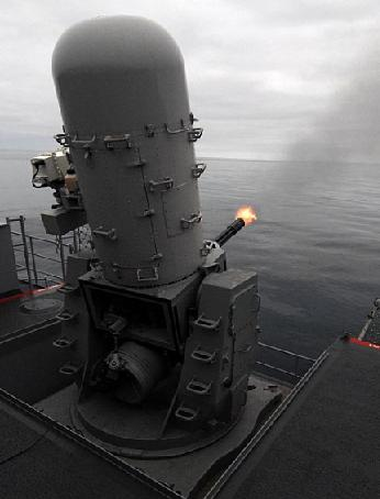 The Phalanx robotic gun-turret in action