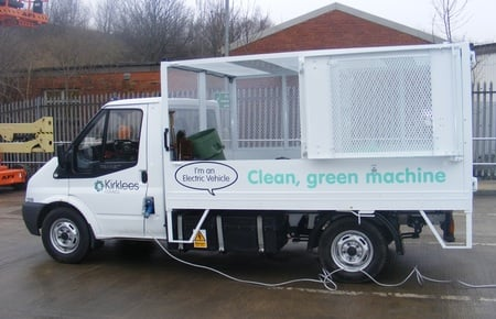 Kirklees 'leccy rubbish truck