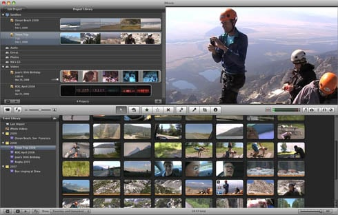 iMovie '09 user interface