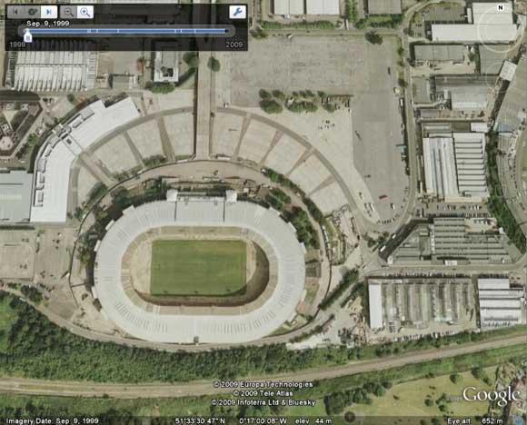 The old Wembley Stadium