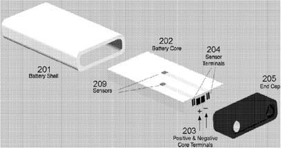 Apple battery patent schematic