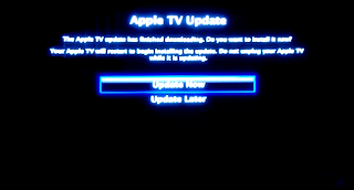 Apple TV system update warning