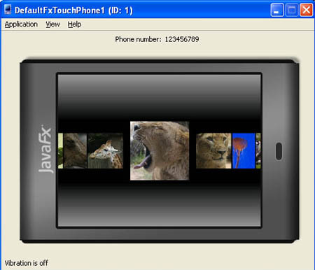 JavaFX Mobile emulator