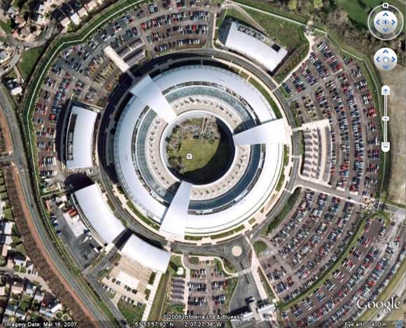 GCHQ as seen on Google Earth