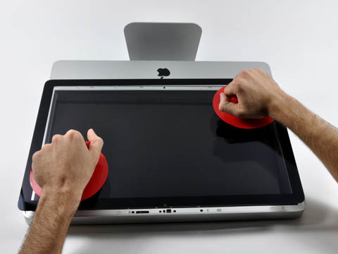 Inside the 20-inch iMac: removing the faceplate