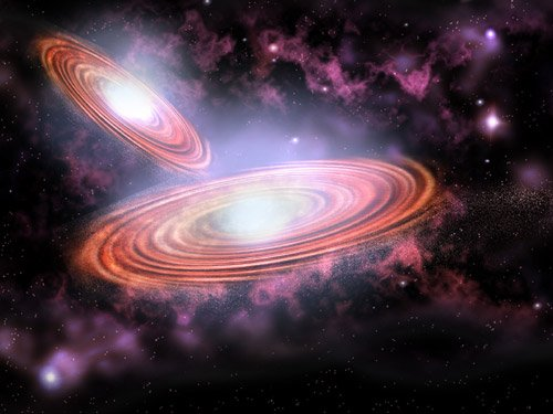 Artist's impression of the binary black hole system