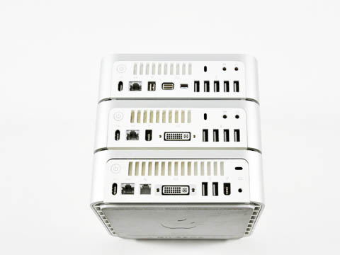 Mac mini: the three basic models