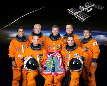 The Discovery STS-119 crew