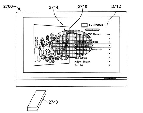 Apple remote-wand patent - reverse flashlight effect