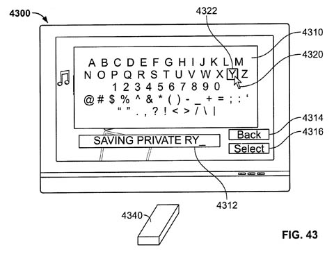 Apple remote-wand patent - keyboard