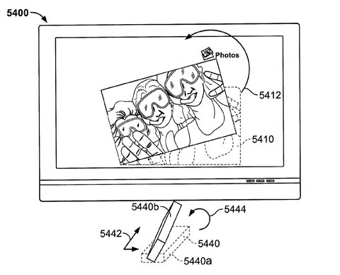 Apple remote-wand patent - rotating an image