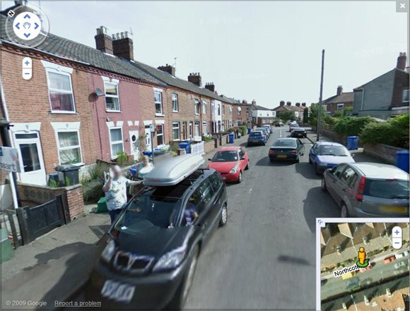 Bill Ray caught on Street View