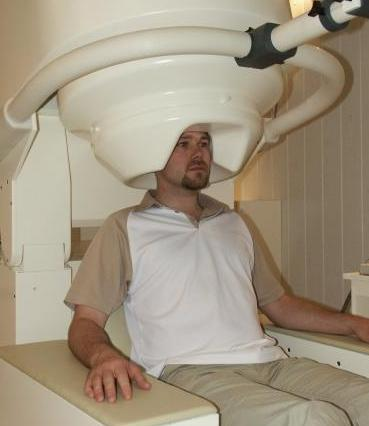 Magnetoencephalogram (MEG) scanner in action