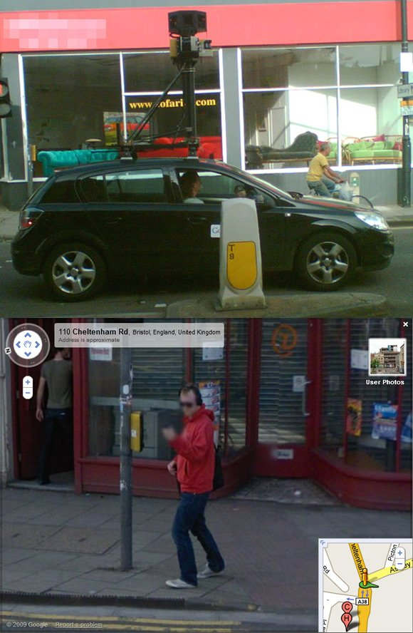 Ray caught on Street View in Bristol