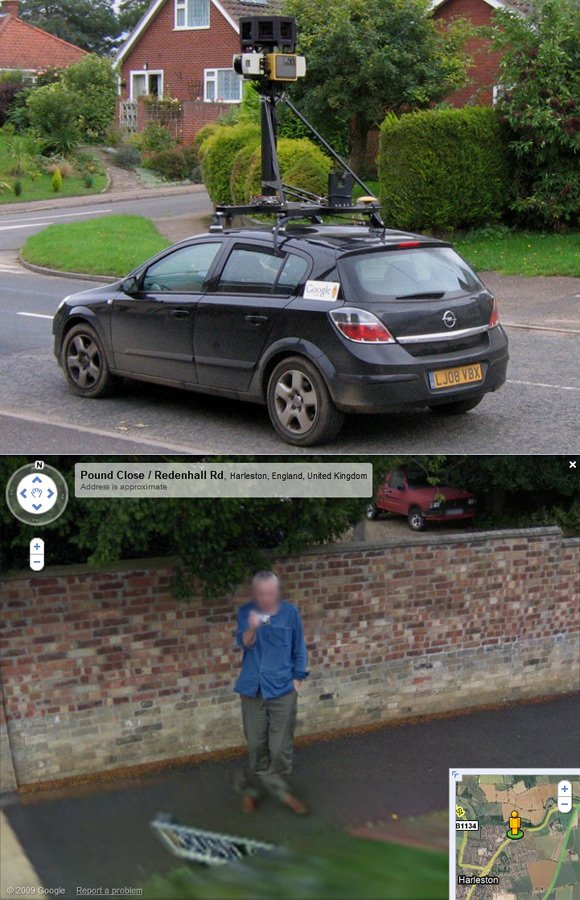Andrew Macdonald caught on Street View in Harleston