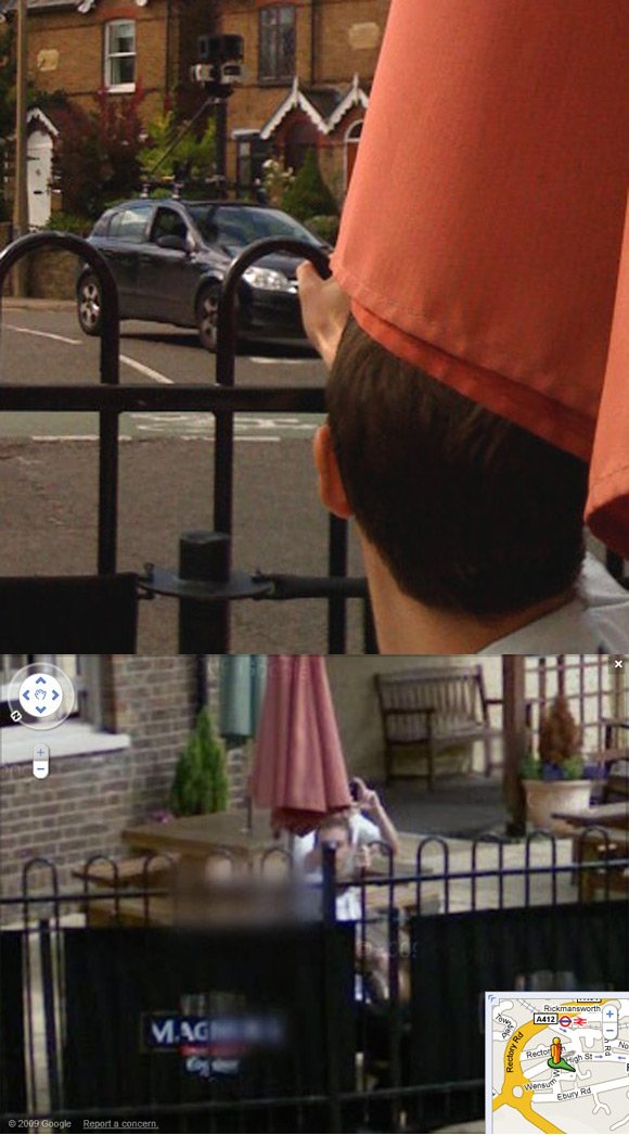 James Herriott caught on Street View in Rickmansworth