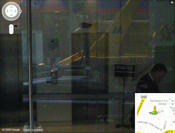 Street View spymobile captures self in plate glass windows