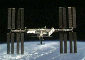 The ISS seen from Discovery. Pic: NASA
