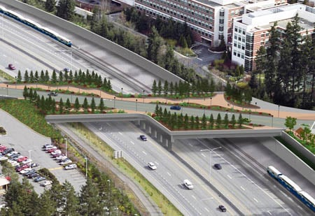 Proposed bridge to connect Microsoft office complex