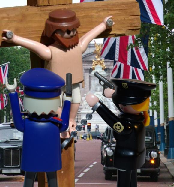 Police bust Playmobil Jesus