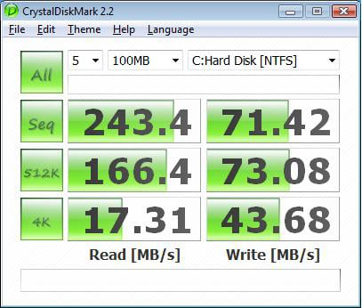 Intel X25-M update CrystalDisk