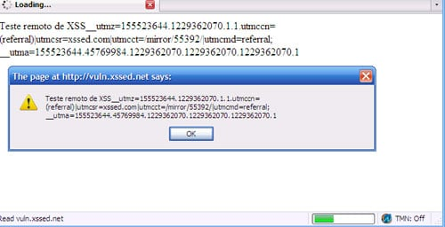 screenshot of Adobe website displaying XSS-generated window