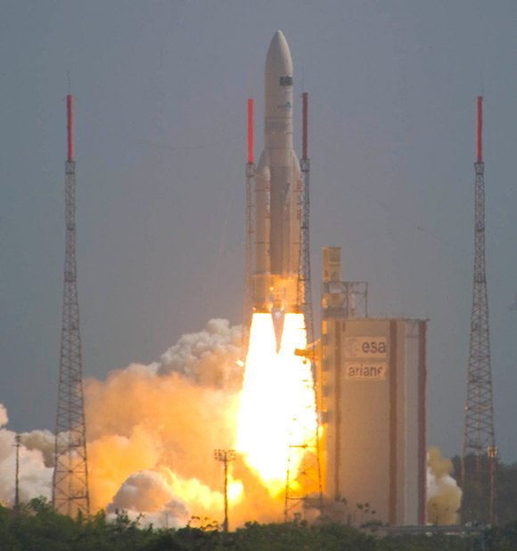 The Ariane 5 carrying Herschel and Planck