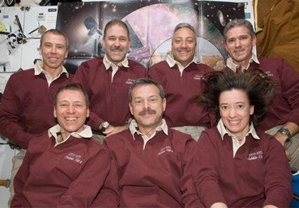 The Atlantis crew. Pic: NASA