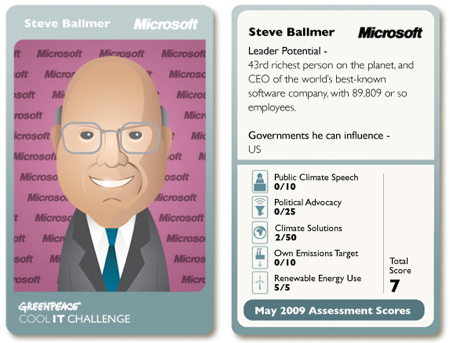 Greenpeace on Steve Ballmer