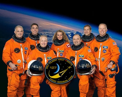 The STS-127 Endeavour crew. Pic: NASA