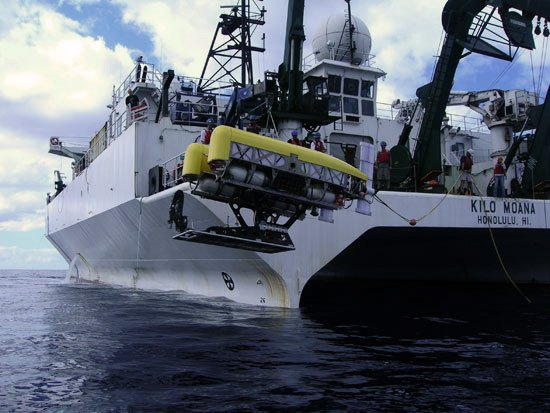Nereus during trials off Hawaii in 2007. Pic: WHOI