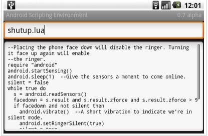 Google Android Scripting Environment