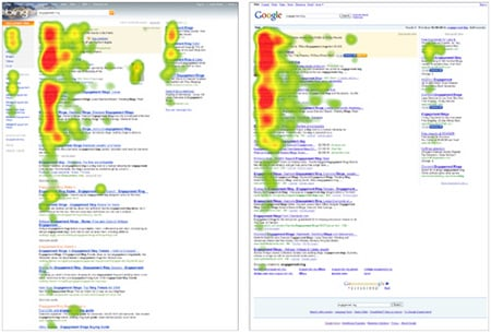 User Centric's heat maps for Bing and Google