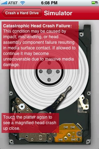 DriveSavers iPhone app