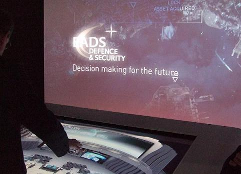 The Touchlab presentation machine at the Paris Airshow
