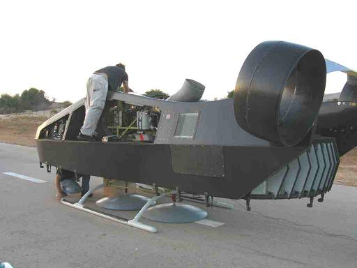 The Urban Aeronautics Mule being readied for testing in Israel