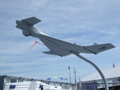The Israeli Harop prowler-bomb at the Paris Airshow