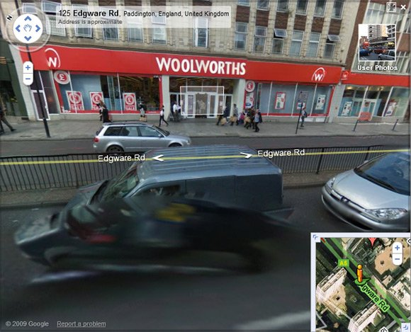 The Woolworths branch on Street View, still