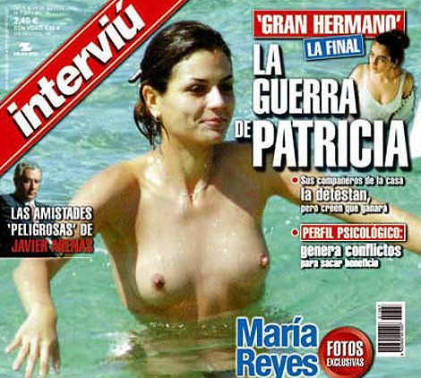 The cover of Interviu featuring Maria Reyes