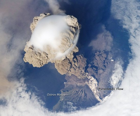 The Sarychev Peak eruption. Pic: NASA